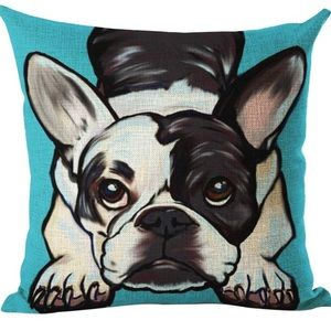 """Other - Boston Terrier Throw Pillow Cover NWT18""""x18"""""""